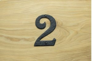"2 Black 4"" Mailbox House Number 450150 Product Image"