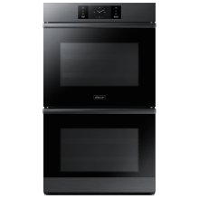 """30"""" Steam-Assisted Double Wall Oven, Graphite Stainless Steel - Floor Model"""