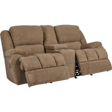 Picasso Double Reclining Rocking Loveseat With Console