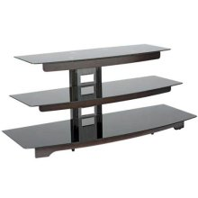 """Chocolate Audio Video Stand Waterfall design - fits AV components and TVs up to 56"""""""