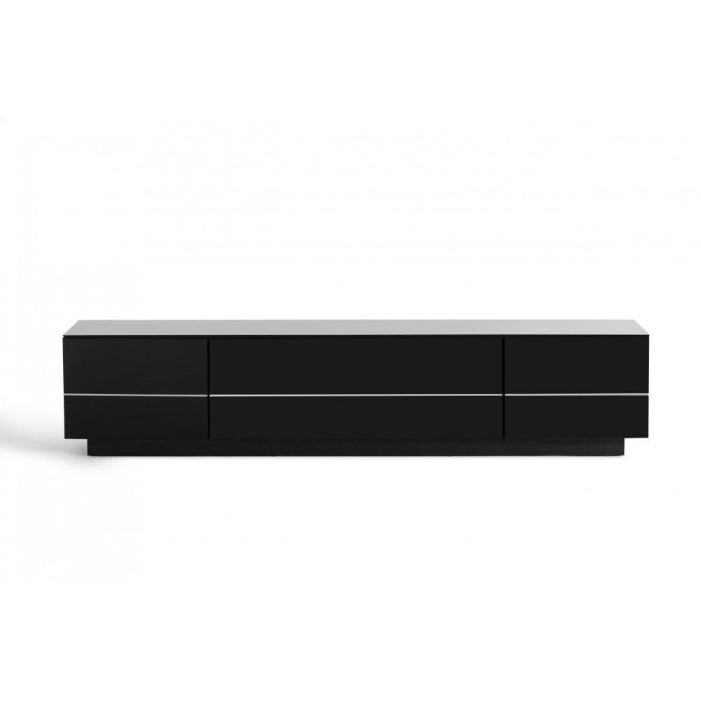 Modrest Caeden Contemporary Black High Gloss TV Stand