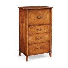 Satinwood chest of drawers vanity unit