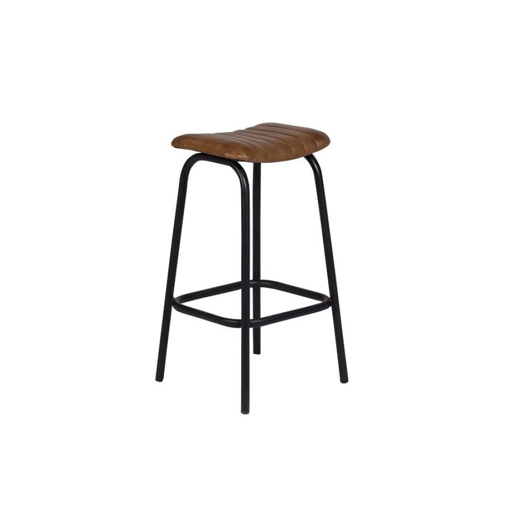 Oscar Cognac Leather Barstool, 4295