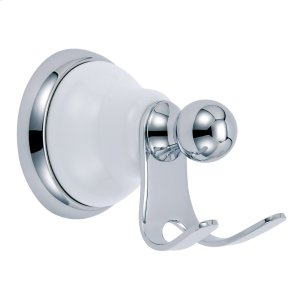 Chrome Twin Robe Hook Product Image