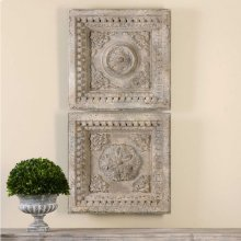Auronzo Square Wall Decor, S/2