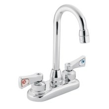 M-DURA chrome two-handle pantry faucet