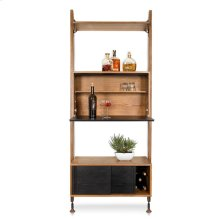 Theo Wall Unit With Bar  Hard Fumed
