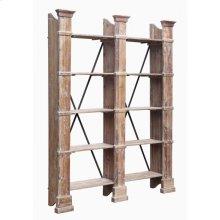 Old World Large Open Shelf