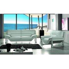 Divani Casa New York - Modern White Leather Sofa Set