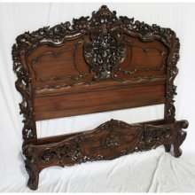 Rococo Carved Bed