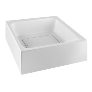 Wall-mounted or counter top washbasin in Cristalplant® (matt white) without overflow waste Product Image