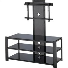"3-tier TV Stand, Black/black Glass, 47.5""LX19.5""WX52""H"