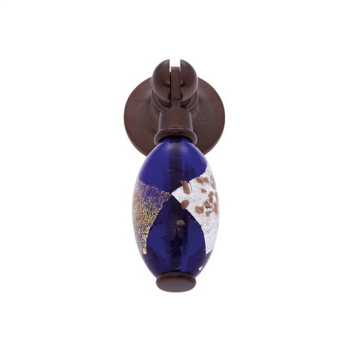 Old World Bronze 30 mm Blue Pendant Pull