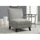"""ACCENT CHAIR - GREY """" CIRCULAR """" FABRIC Product Image"""