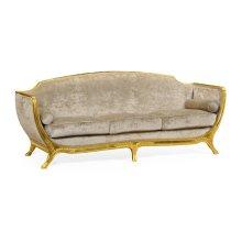 Empire Style Sofa (Gold Leaf/Velvet Calico)