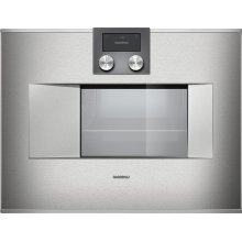 """400 series 400 series Combi-steam oven Stainless steel-backed full glass door Width 24"""" (60 cm) Right-hinged Controls on top"""