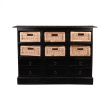 CC-CAB918LD-AB-B  Cottage Six Basket Cabinet