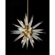 Handblown Glass Sphere Droplight with Six Lights