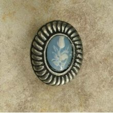 Charlotte Insert Knob Small with Blue Rose