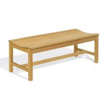 4' Backless Bench - Teak