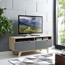 """Origin 47"""" TV Stand in Natural Gray Product Image"""