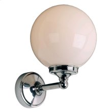 "Classic single wall bracket with 6"" opal globe, max. wattage 40W (S.E.S. bulb) (recommended for use in Zone 3 applications)"