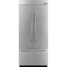 36-inch Stainless Steel Panel Kit for Fully Integrated Built-In French Door Refrigerator, Pro-Style® Stainless Handle