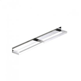 """AS160 - Side by Side Double Towel Bar 24"""" - Brushed Nickel"""