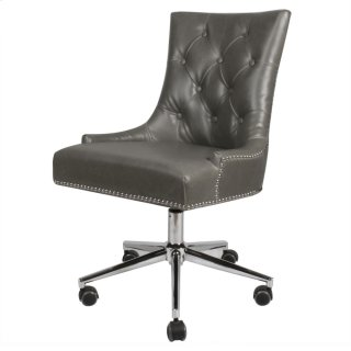 Cadence Bonded Leather Office Chair, Vintage Gray