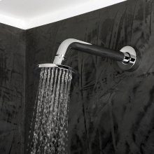 Wall-mount tilting round rain shower head, 60 rubber nozzles. Arm and flange sold separately.