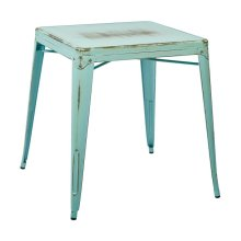 Bristow Antique Metal Table In Antique Sky Blue(kd)