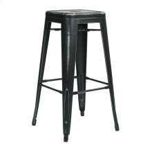 "Bristow 30"" Antique Metal Barstool, Antique Black Finish, 2 Pack"