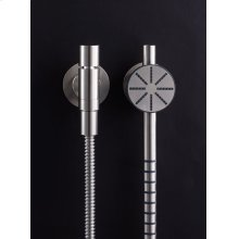 Hand shower, hand shower holder and hose with non-return valve - Polished chrome