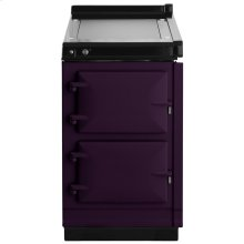 """AGA Hotcupboard 20"""" Electric Aubergine with Stainless Steel trim"""