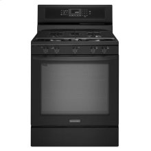 KitchenAid® 30-Inch 5-Burner Gas Freestanding Range, Architect® Series II - Black