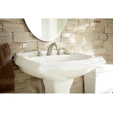 "White Allerton 8"" Centers Petite Pedestal Bathroom Sink"