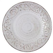 Rustic Flare Dinner Plate,Wht