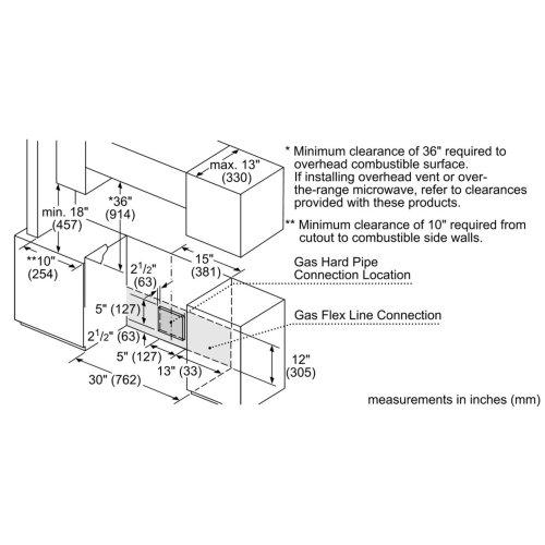 Benchmark® Gas Slide-in Range 30'' Stainless steel