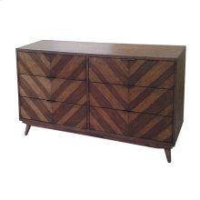 Piero Chevron Dresser with 6 Drawers, Java