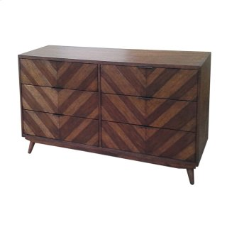 Piero Chevron Dresser with 6 Drawers, Java