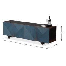 A Perfect Flat Screen Tv Sideboard, Blue
