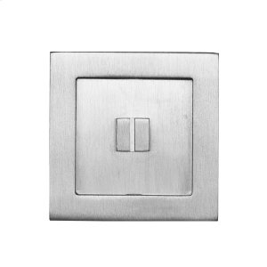 Square flush pull 65x65 with emergency release, Antique Brass Dark Product Image