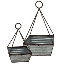 SET OF 2 metal basket