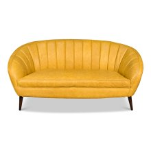Ochre Yellow Seashell Sofa