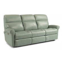 Davis Leather Power Reclining Sofa with Power Headrests