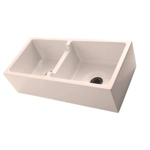 """Mina 39"""" Double Bowl Farmer Sink - Bisque Product Image"""