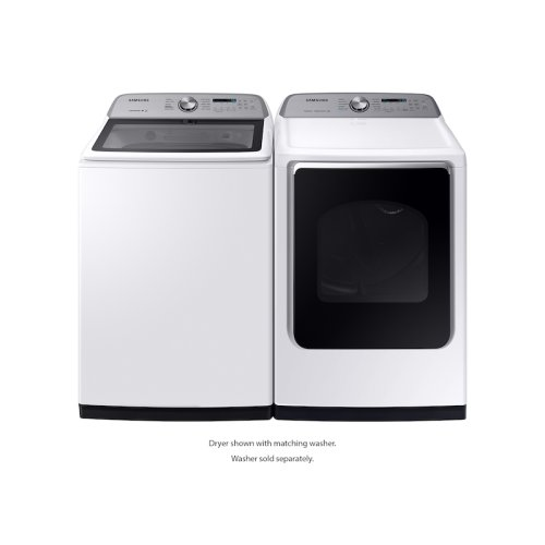 7.4 cu. ft. Electric Dryer with Steam Sanitize+ in White