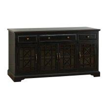 """Craftsman Antique Black 60"""" TV Console"""