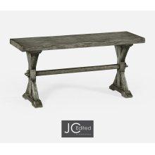 Narrow Antique Dark Grey Topped Bench