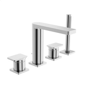 Strata X 4-hole roman tub trim kit, chrome Product Image